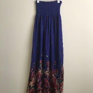 Full Tilt Blue Floral Maxi